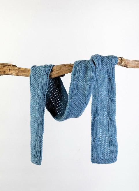 Liam Aran Scarf Yarn Vibes 100% Organic Knit Kit