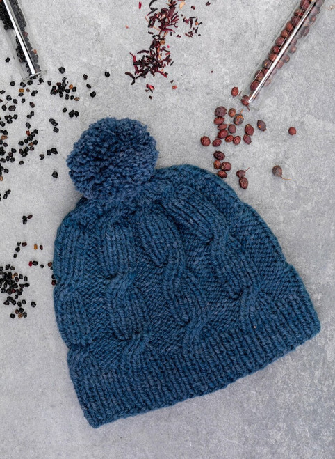 Riley Aran Hat Yarn Vibes 100% Organic Knit Kit