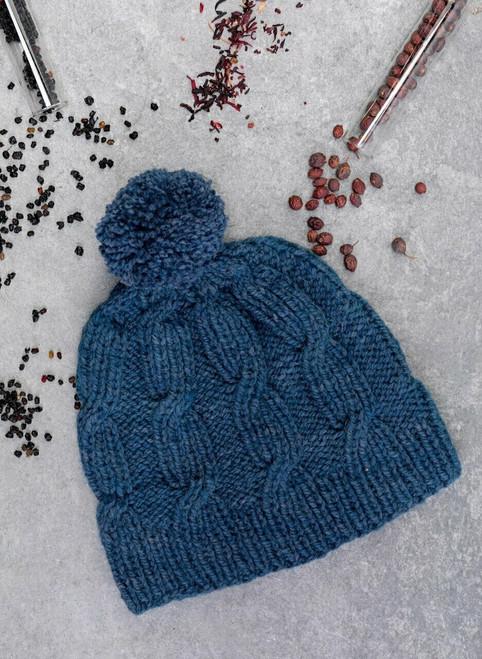 Riley Aran Hat Cliffs of Moher Knit Kit