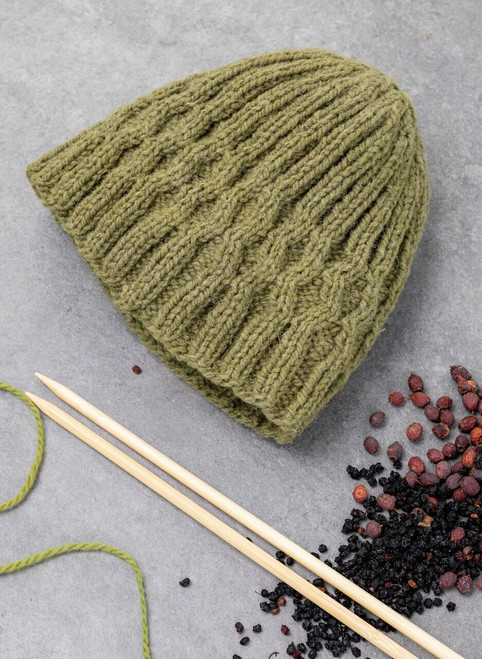 Shannon Beanie Hat Yarn Vibes 100% Organic Knit Kit