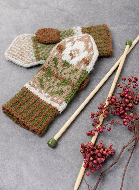 Brayden Colorwork Mittens Classic Knit Kit