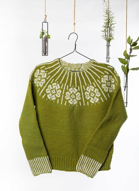 Dervla Colorwork Sweater Yarn Vibes Classic Knit Kit