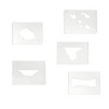 Land Forms Stencils - Complete Set