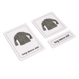 Clothes 3 Part Cards (EC-0640A)