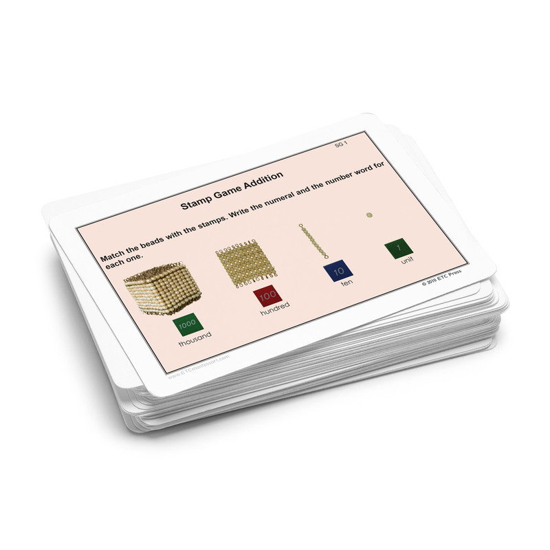 Stamp Game Task Cards - Addition.  Level 3-6