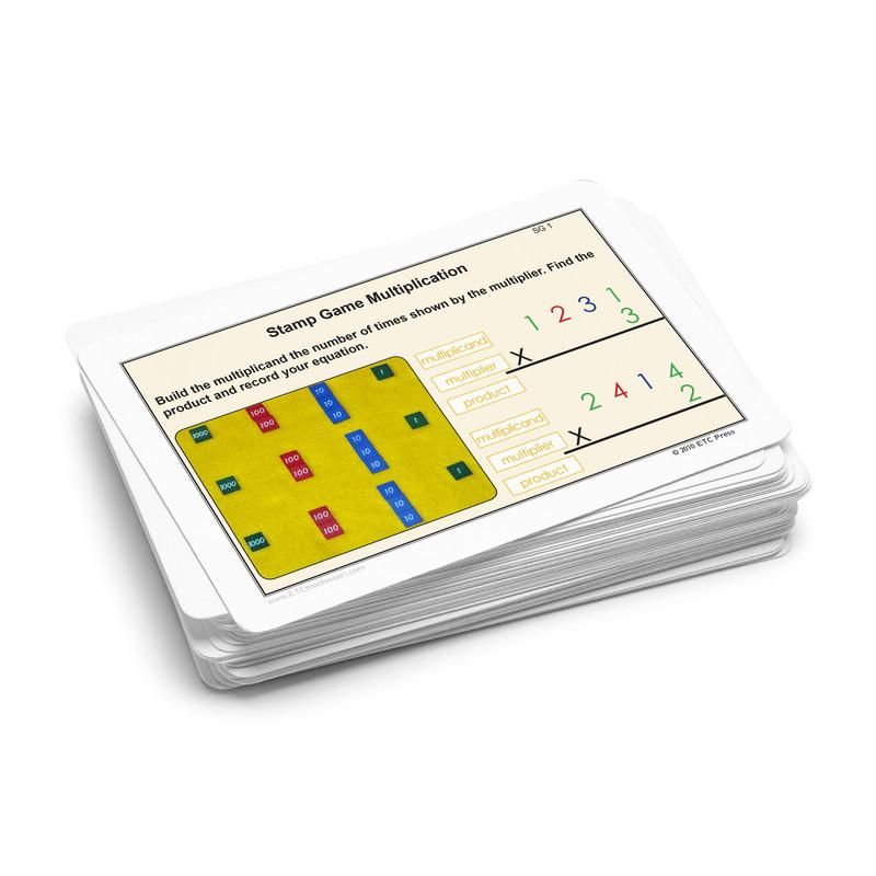 Stamp Game Task Cards - Multiplication.  Level 3-6