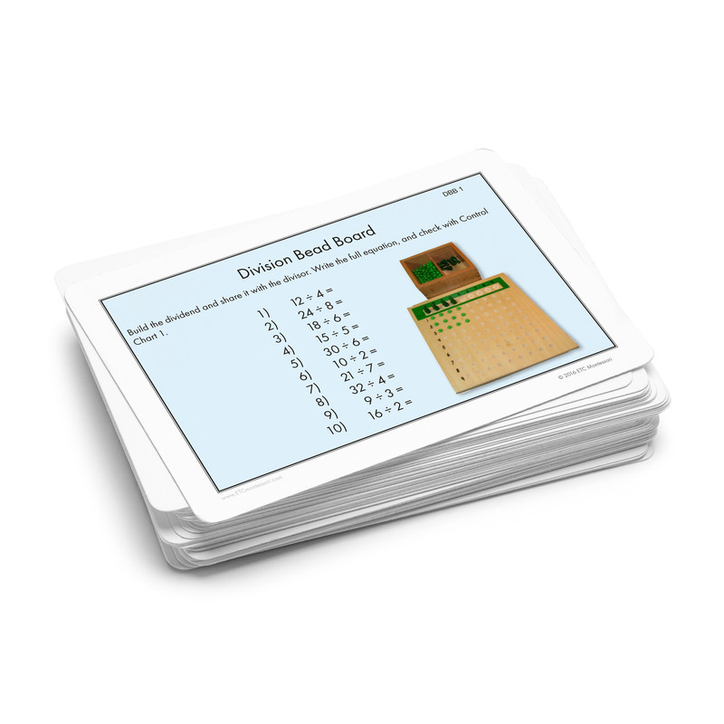 Division Bead Board Task Cards.  Level 3-6