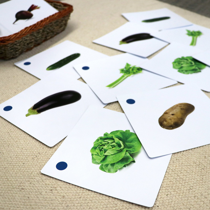 Vegetables Matching Cards