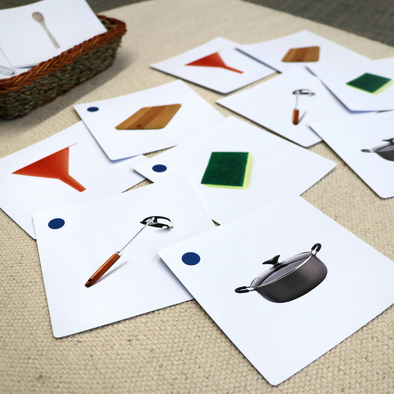 Kitchen Tools Matching Cards