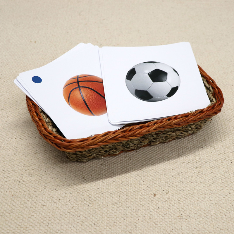 Sports Equipment Matching Cards
