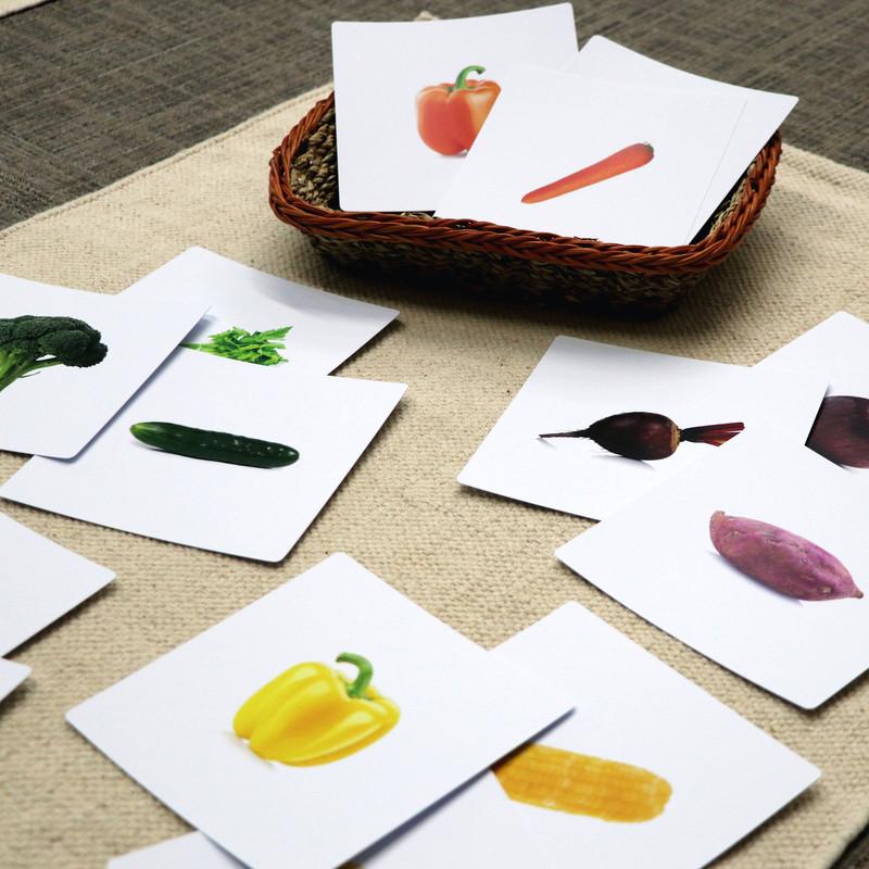 Same Color Different Vegetables Sorting Cards (IT-0091)