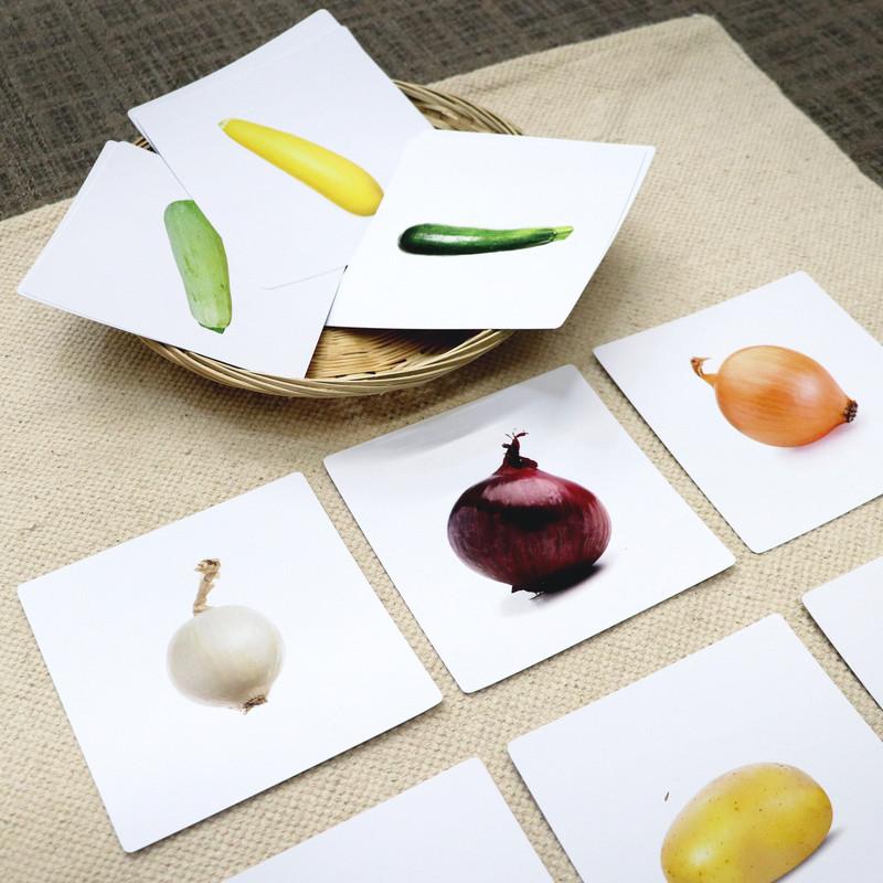 Same Vegetables Different Color Sorting Cards (IT-0092)