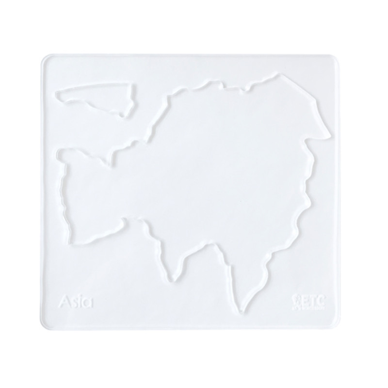 Continent Stencils from the Montessori World Map