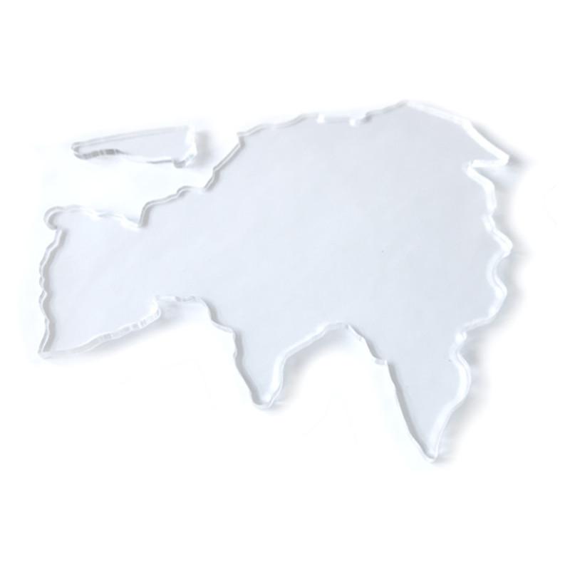 Continent Stencils from the Montessori World Map