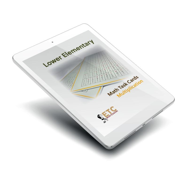 Lower Elementary Math Task Cards: MULTIPLICATION - Digital Edition