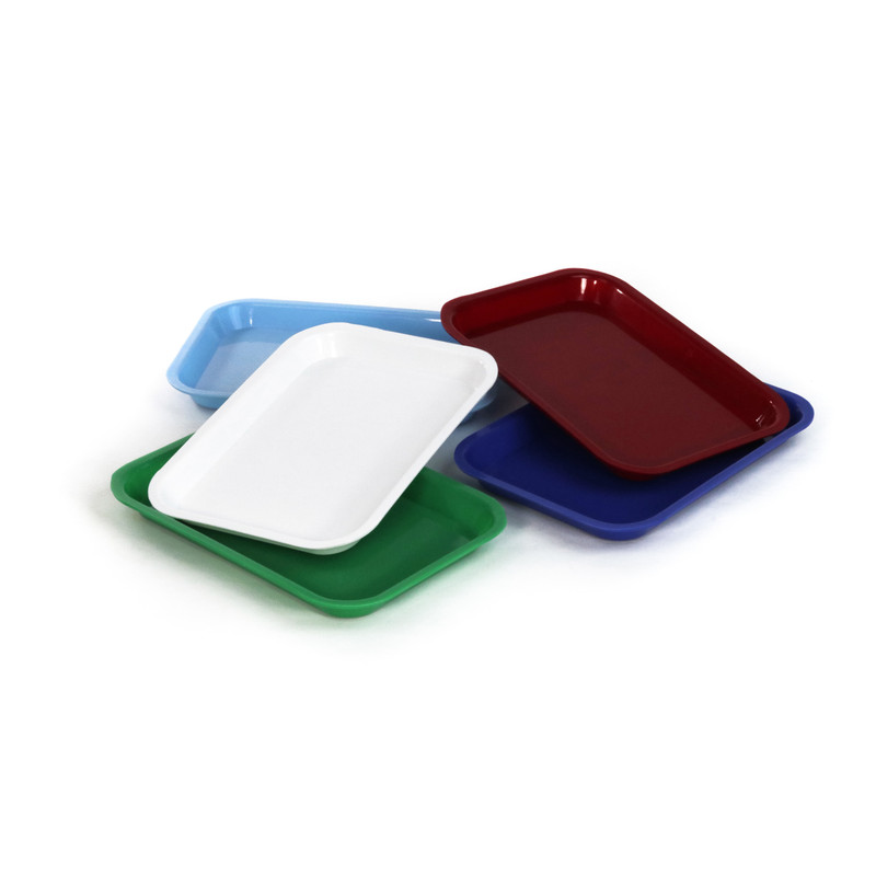 Small Plastic Trays Set of 5 (9.5 x 6.5 x 1 in)