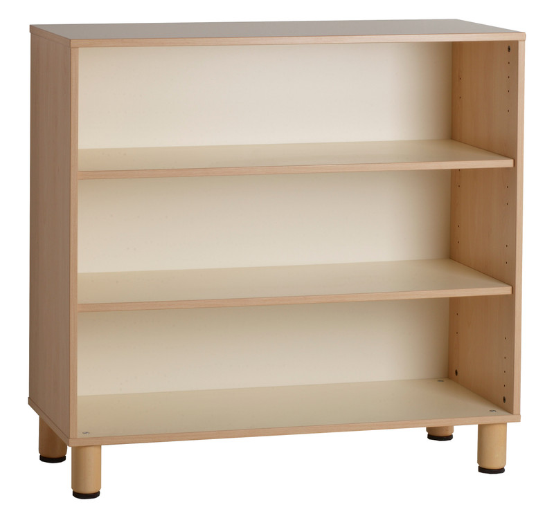 Item: GA0252000. (105x41x100h cm) Closed cabinet  Clean lines and light colors to respond to the needs of pedagogy today with modern and minimal design. Our shelves feature edges in bleached oak, frame-flush doors where needed, and open shelves, with minimal handles.