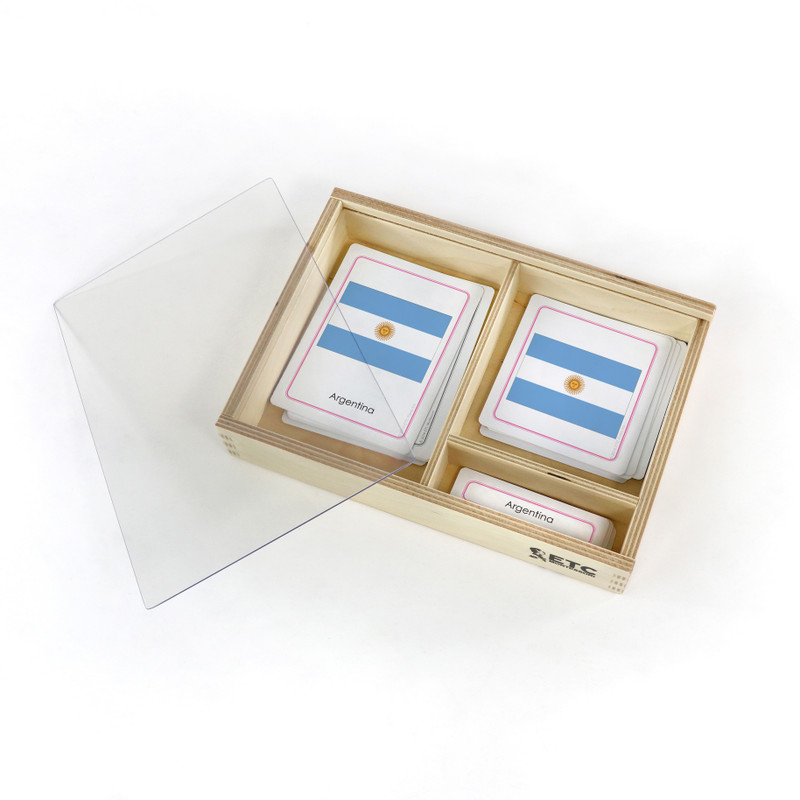 Flags of South America with container