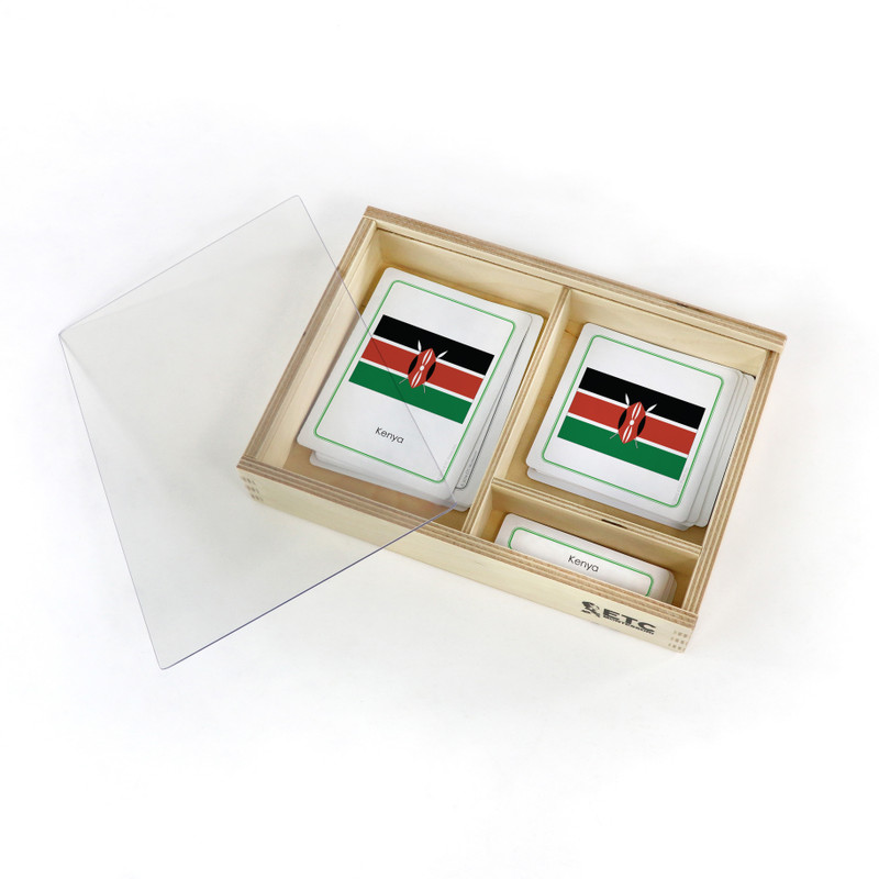 Flags of Africa with container box