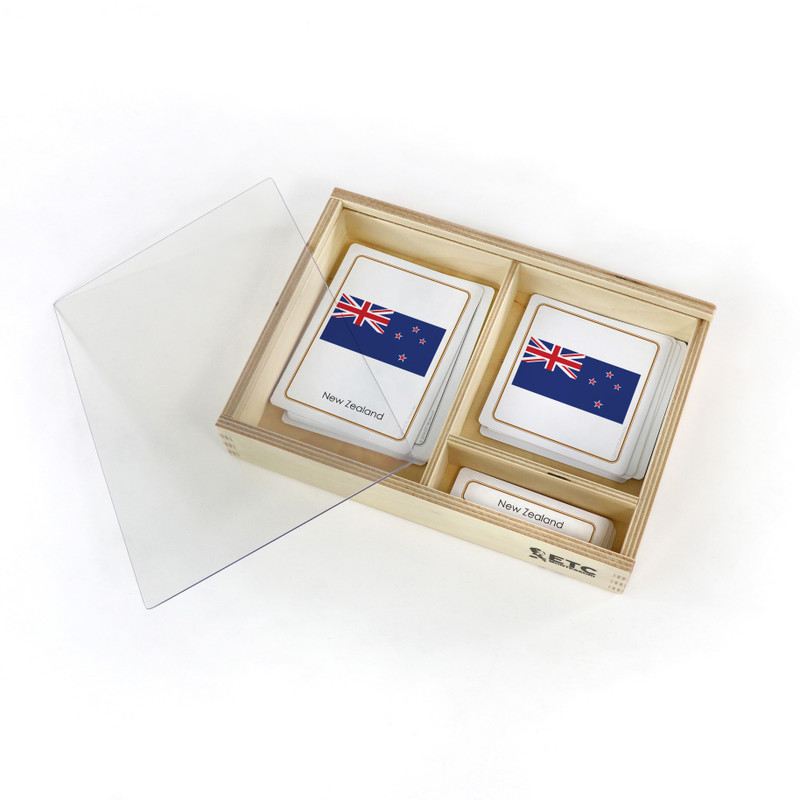 Flags of Australasia with container box