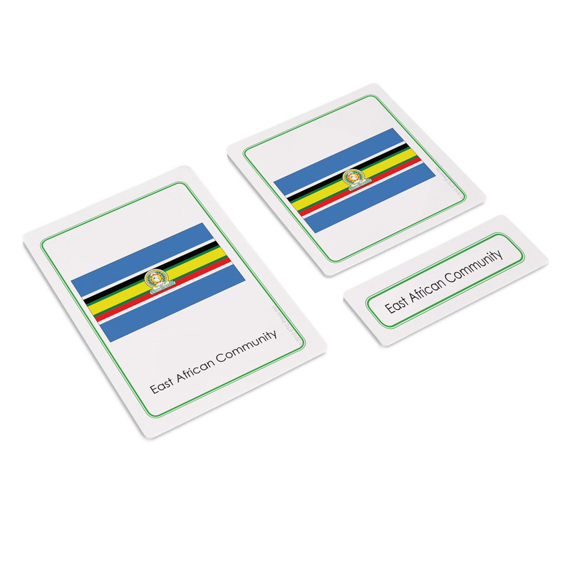 Flags of Africa 3 Part Cards (EC-0505)