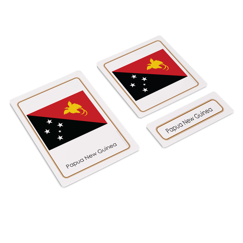 Flags of Australasia 3 Part Cards (EC-0506)