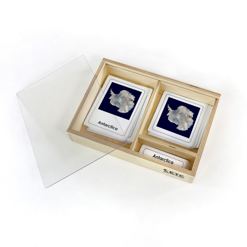 World Continents and Hemispheres 3 Part Cards (EC-0577)