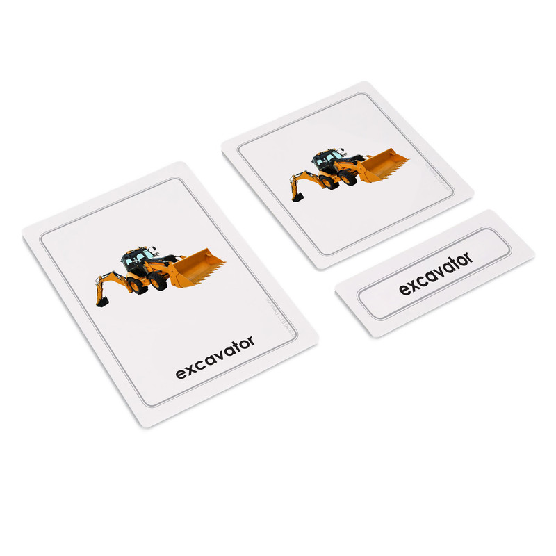 Construction Equipment 3 Part Cards (EC-0530A)