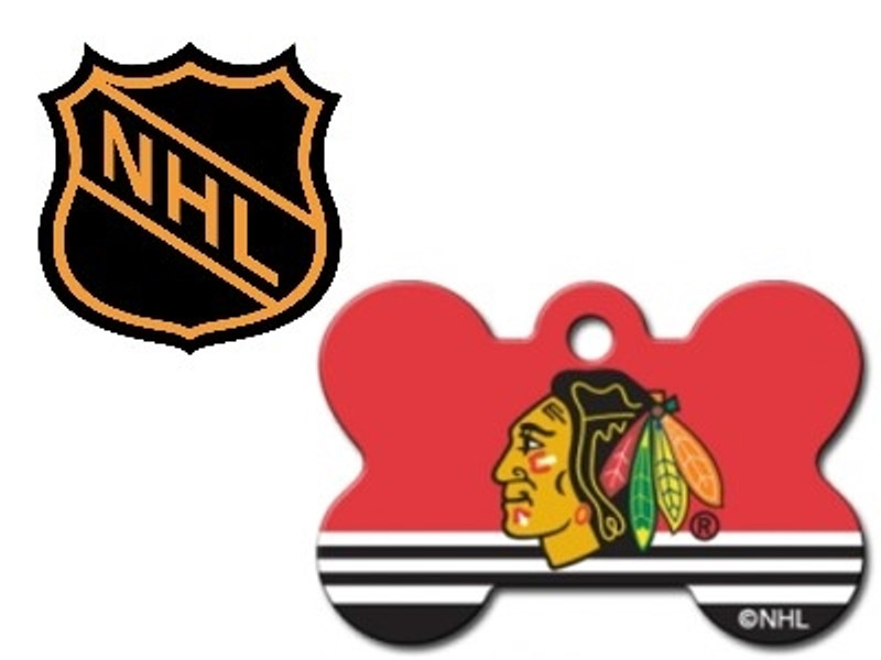 Nhl Licensed Large Personalized Engraved Pet Id Tags Free Shipping 16 Teams Available