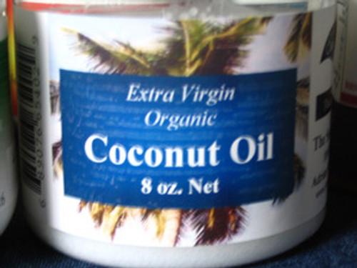 Extra Virgin Organic Coconut Oil 8 OZ