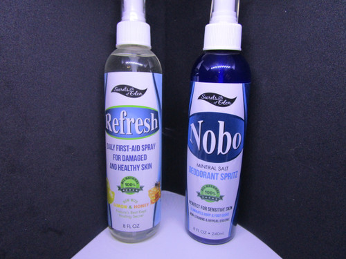 Refreshing mineral spray and NoBo Deodorant spritz organic (Combo Pack)