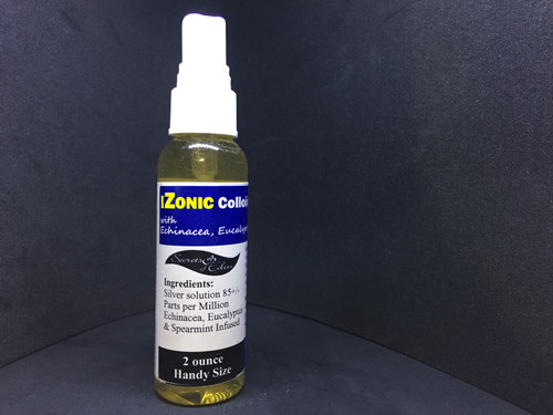 IZONIC Colloidal Silver with Echinasea Eucalypyus and Spearmint  2 oz
