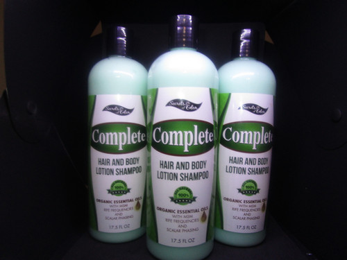3 Bottles of Complete Hair & Body Shampoo