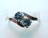 Montana Sapphire Ever Us Style 2 Stone Ring
