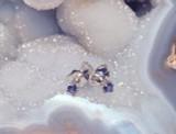 Montana Yogo sapphire round stud earrings sterling silver 2.5mm