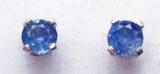 Montana Yogo sapphire round stud earrings sterling silver 3mm
