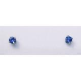 Montana Yogo sapphire round stud earrings 4 prong