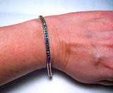 Rainbow Sapphire Multi Color Bracelet on wrist