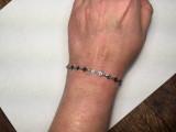 Montana Yogo Sapphire Sterling Silver Baguette Bracelet