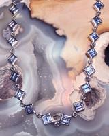 # 1 - Montana Yogo Sapphire Sterling Silver Baguette Bracelet 3 1/2 cts