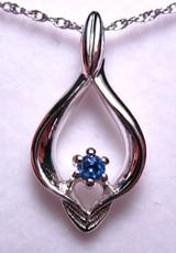 Montana Yogo Sapphire Flame Pendant
