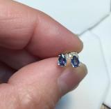 Montana Yogo Sapphire Pear Teardrop earrings 4x3mm