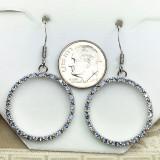 Montana Yogo Sapphire Hoop Earrings Sterling Silver