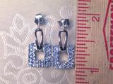 Montana Yogo Sapphire Door Knocker Post Earrings Sterling Silver