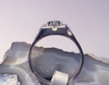 Montana Sapphire 6 Prong Men's Nugget Ring side view