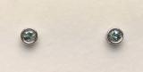 Montana Sapphire Bezel Set Earrings in Sterling Silver