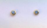 Montana Sapphire Bezel Set Earrings Gold Filled
