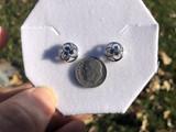 Montana Yogo Sapphire Tri in Circle Earrings Sterling Silver