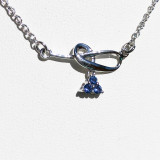 Montana Yogo Sapphire Tri Dangle Post Earrings Sterling Silver matching necklace