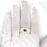 Montana Sapphire Men's Sterling Silver Solitaire Ring 4.4mm